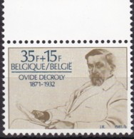 1981, Belgien, 2061,  MNH **, 110. Geburtstag Von Ovide Decroly. - Belgien