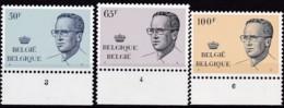 1981, Belgien, 2074/76,  MNH **,  König Baudouin Mit Brille, - Belgien