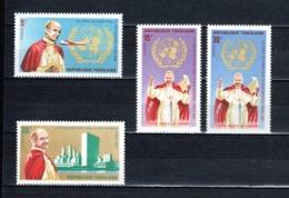 TOGO N° 477 à 480   NEUFS SANS CHARNIERE COTE  2.50€  PAPE PAUL VI AUX NATIONS UNIES - Togo (1960-...)