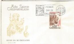 ESPAÑA SPD FDC 1986 AÑO SANTO COMPOSTELANO SANTIAGO RELIGION - Cristianismo