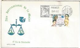 ESPAÑA SPD FDC 1975 AÑO DE LA MUJER WOMEN YEAR - Mujeres Famosas