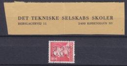 Denmark Perfin Perforé Lochung (T30) 'T.S.S.' Det Tekniske Selskabs Skoler, København Fr. IX. Stamp (2 Scans) - Abarten Und Kuriositäten