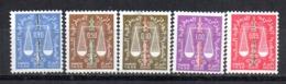 Serie Nº Taxa 59/63  Algeria - Argelia (1962-...)