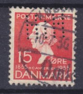Denmark Perfin Perforé Lochung (H37) 'HiH' Forsikring Haand I Haand, København (Inssurance) H.C. Andersen (2 Scans) - Abarten Und Kuriositäten