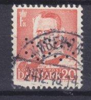 Denmark Perfin Perforé Lochung (Fig04a) 'ww' Københavns Kommune, København (2 Scans) - Abarten Und Kuriositäten