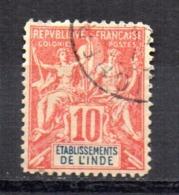 Sello Nº 14 India Francesa - India (1892-1954)