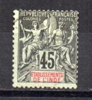 Sello Nº 18  India Francesa - India (1892-1954)