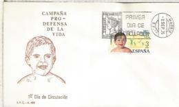 ESPAÑA SPD 1975 CAMPAÑA PRO VIDA INFANCIA - Infancia & Juventud