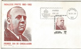 ESPAÑA SPD 1983 INDALECIO PRIETO SOCIALISMO GUERRA CIVIL - 1931-Hoy: 2ª República - ... Juan Carlos I