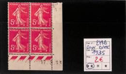 [816631]TB//**/Mnh-France 1932 - N° 278B, 5c Rose, Semeuse, 17.5.35, BD4, Cdf Daté - 1930-1939