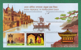 INDIA 2019 Inde Indien - Joint Issue With KOREA 2v M/S MNH ** - Queen Heo, Pincess Suriratana, Palace, Boat - As Scan - Gemeinschaftsausgaben