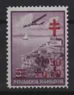 "03. Yugoslavia 1940 Anti Tuberculosis Missing Stop In ""0 50"" MNH - 1931-1941 Royaume De Yougoslavie"