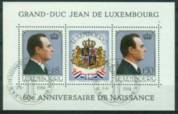 BM Luxembourg 1981 MiNr Block 13 (1022-1024) Used   Grand Duke Jean's 60th Birthday - Usati