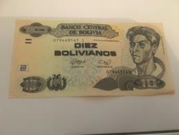 Billet Diez 10 Bolivianos Bolivie 1986 - Bolivie