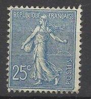 France  N° 132 Semeuse Lignée 25c Bleu Neuf * * TB = MNH VF ..........soldé à Moins De 15 %    ! ! ! - France