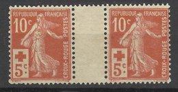 France Paire Interpanneaux Du N°147 Croix Rouge  Neufs * *  TB  - MNH VF Soldés à  Moins De 15 %   ! ! ! - France