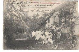 CPA LA REUNION Habitations Sur La Montagne Saint-Denis Carte Vendue En L'état Très Moyen  Voir Scans Pli Et Gros Manques - Saint Denis
