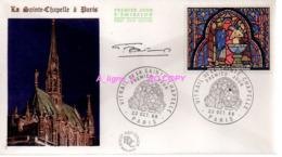 REF X20 : Enveloppe 1er Jour First Day Cover FDC : Signée Par Le Graveur Autographe : Vitrail Ste Chapelle Paris 1966 - Sin Clasificación