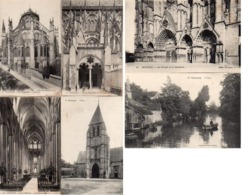 CP 18 Cher Bourges Cathédrale Nef Abside Portail Vierzon Yèvre église - Non Classés