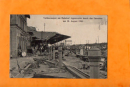 APPENWEIER  -  Bahnhof, Verheerungen Durch Das Unwetter 10. August 1905  - - Autres