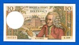 10  Fr  Du  7/8/1969 - 1962-1997 ''Francs''