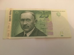 Billet 25 Krooni Estonie 2007 - Estonie