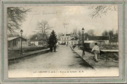 CPA - LOCHES (37) - Aspect Du Cinéma Gaumont De L'avenue De La Gare En 1917 - Loches