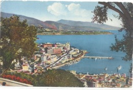 26. MONTE-CARLO . VUE GENERALE ET LE CAP MARTIN . CARTE COLORISEE AFFR AU VERSO EN 1951 . 2 SCANES - Monte-Carlo