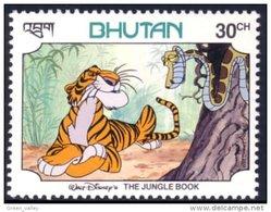 192 Bhutan Disney Serpent Snake MNH ** Neuf SC (BHU-38e) - Reptielen & Amfibieën