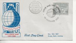 Année Géophysique.-FDC 1958 - Curaçao, Antille Olandesi, Aruba