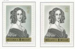 [150125]SUP//**/Mnh-N° 1233/34, Reine Louise-Marie (1812-1850), Monogramme 'L' Et 'ML', SNC - Belgium