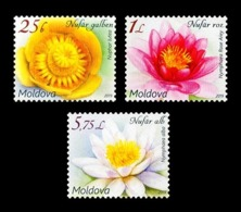Moldova 2019 Mih. 1098/100 Definitive Issue. Flora. Flowers. Water Lilies MNH ** - Moldova