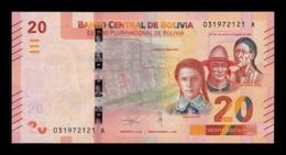 Bolivia 20 Bolivianos 2018 Pick 249 New Design SC UNC - Bolivia