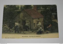 DER1 * Aisne   BUIRONFOSSE  Boutique De Sabotiers  Carte  Toillée - Autres Communes