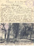 GUERRE 14-18 COMMANDEMENT D'ETAPES  SERVICE DE SANTÉ *  LE MÉDECIN CHEF * CHAUMONT HAUTE-MARNE Du 23-3-1915 - Marcophilie (Lettres)