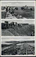 AK/CP Pellworm Buphever  Deichbau 1938   Gel./circ.  1947  Erhaltung/Cond. 2  Nr. 00876 - Nordfriesland