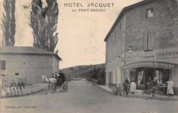 CPA Hôtel Jacquet Au Pont-Dorieu - Francia