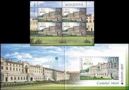 Moldova 2017.Europa CEPT.  Castles.  Mi. # Booklet 1000 - Moldawien (Moldau)