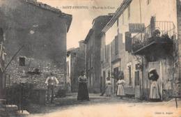 CPA SAINT-CHRISTOL - Place De La Croix - Saint Christol