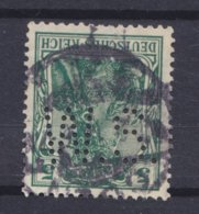 Germany Deutsches Reich Perfin Perforé Lochung 'W.S.' 5 Pf. Germania CÖLN Cds. (2 Scans) - Abarten