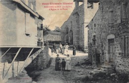 CPA Haut-Vivarais Illustré - BOUCLIEU-le-ROI (Ardèche) - L'Eglise Et La Poste - Frankreich