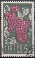 Cyprus 1962 Michel 203 O Cote (2009) 0.20 Euro Grappe De Raisin Cachet Rond - Gebraucht