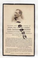FAIRE PART DECES - 02 - GUIGNICOURT - MILITARIA - Comte Guillaume D'Harcourt Lieutenant 9e Groupe D'artillerie D'assaut - Obituary Notices