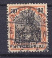 Germany Deutsches Reich Perfin Perforé Lochung 'N.C.R.' 30 Pf. Germania Deluxe BERLIN W. 1912 Cancel (2 Scans) - Abarten