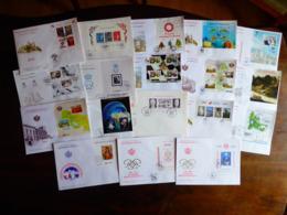MONACO 18 FDC Premier Jours Avec Blocs Grand Format  Parfait état Voir Scans - Blocks & Sheetlets