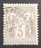 1876-1900, Sage, Pax And Mercur, Type Ll, 3c, France, Empire Française, *,**, Or Used - 1876-1898 Sage (Tipo II)