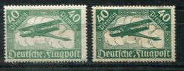 4934 - DEUTSCHES REICH - Mi.Nr.112 B Mit Falz (+ Vergleichsstück 112 A II.Wahl) - Mint But Hinged - Ungebraucht