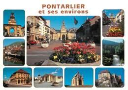 25 - Pontarlier - Multivues - Fleurs - Carte Neuve - Voir Scans Recto-Verso - Pontarlier