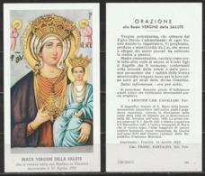 Santino - Beata Vergine Della Salute Venerata Nella Sua Basilica A Venezia - Santini