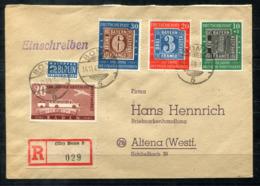 4939 - BUND - Mi.Nr. 113-115 + Baden Mi.Nr.55 Auf R-Brief Von Bonn Nach Altena - Storia Postale